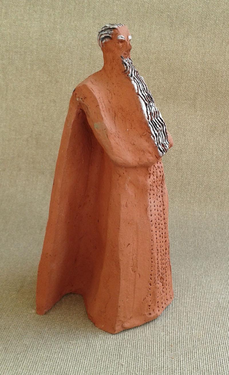 moses figurative sculpture  small ceramic figure from